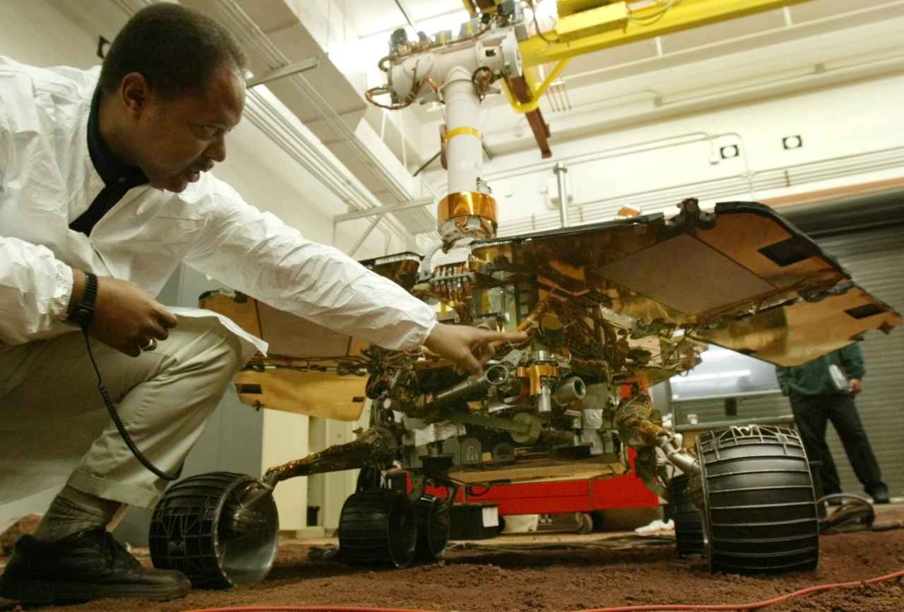 Whilst being on Mars, Opportunity had to overcome some major hurdles. Hurdles where its predecessors had sunk. In 2005, the rover got stuck in a dune but was eventually rescued after NASA extensively worked to mimic Martian soil, helping Opportunity to carefully manoeuvre its way out of trouble. It also survived its first dust storm in 2007, grappled with intermittent wheel problems and toiled with a problematic robotic arm throughout its expedition. (Image: Reuters)