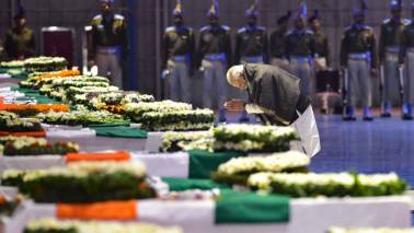 Pulwama terror attack LIVE updates: PM Modi pays his tribute to martyrs at wreath-laying ceremony at Palam Airport, Delhi