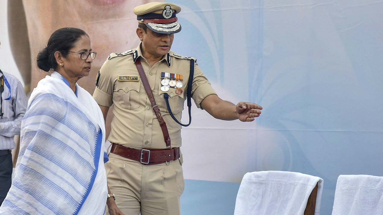 """Mamata Banerjee sat on a """"Save India"""" dharna in front of Metro Cinema in the heart of the city on February 3 insisting that the latest CBI action was tantamount to stifling the spirit of """"Constitution and federalism"""" in the country. (PTI)"""