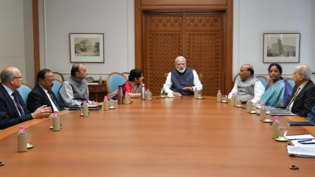What Indians said: Prime Minister Narendra Modi chaired a high-level CCS meeting in New Delhi early on February 26 morning along with Union ministers Nirmala Sitharaman and Arun Jaitley on the attack. Modi also briefed President Ram Nath Kovind and Vice President M Venkaiah Naidu about Indian Air Force's striking a JeM terror camp in Balakot. (Image: ANI)