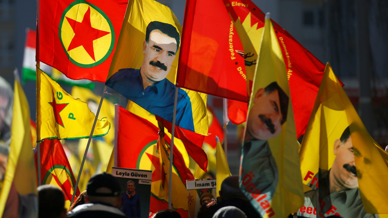 Pro-Kurd protesters take part in a demonstration in support of jailed Kurdistan Workers Party (PKK) leader Abdullah Ocalan in Strasbourg, France. (Image: Reuters)