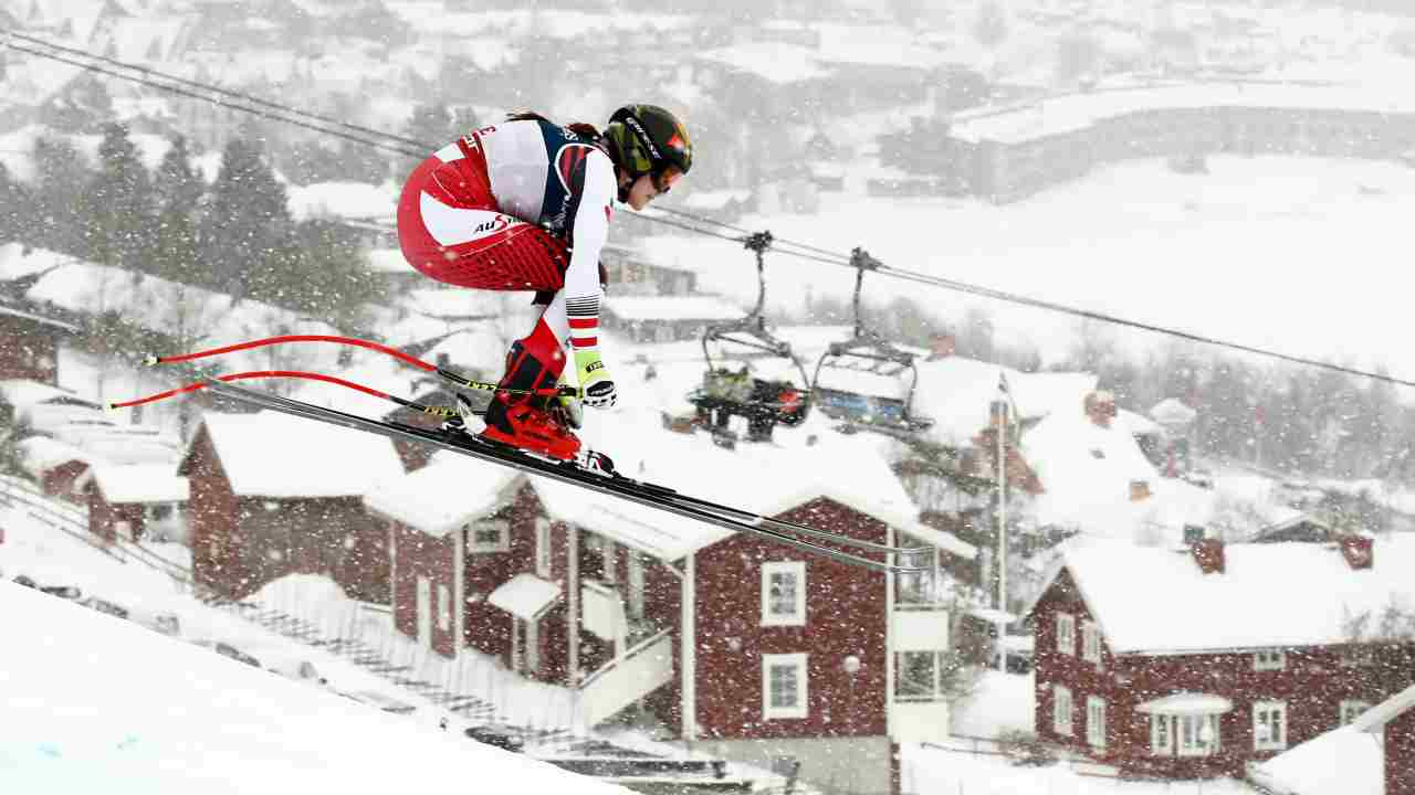 Austria's Christina Ager in action. (Image: Reuters)