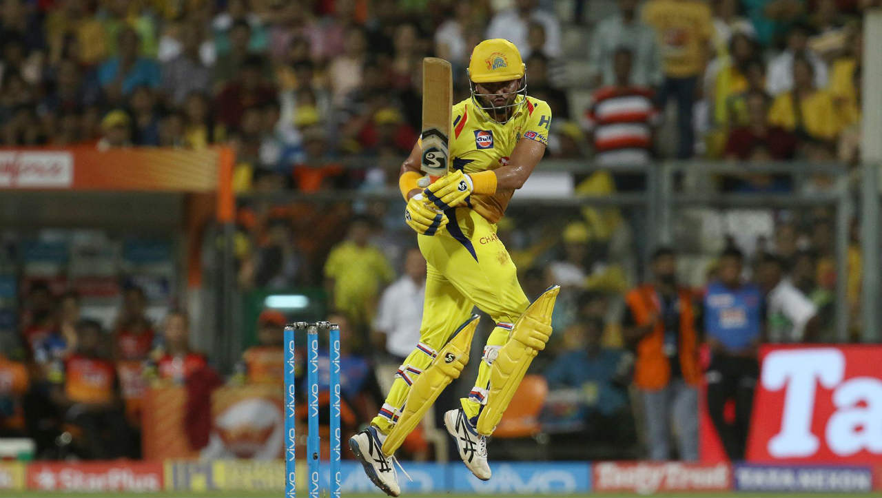 4. Suresh Raina (50 off 16 balls vs KXIP, 2014) | The southpaw's heroics for CSK went in vain with the team chasing 226 against Kings XI Punjab. Raina tried to give the team a quick start getting to his 50 from just 16 balls with seven 4s and four 6s. He finished with 87 off 25 balls at a stunning strike rate of 348.00 but CSK fell short of 24 runs. (Image: BCCI, iplt20.com)