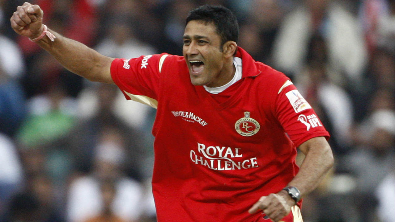 3. Anil Kumble | Royal Challengers Bangalore | BBM: 5/5 | Defending just 133 runs against the reigning champions Rajasthan Royals in 2009, Kumble destroyed the batting line-up in a devastating spell of 3.1-1-5-5. Kumble dismissed Yusuf Pathan and Ravindra Jadeja in his first over before returning to scalp Shane Warne and Munaf Patel in his next. He then got the wicket of Kamran Khan as the Royals were bundled out for just 58 runs. (Image: Reuters)