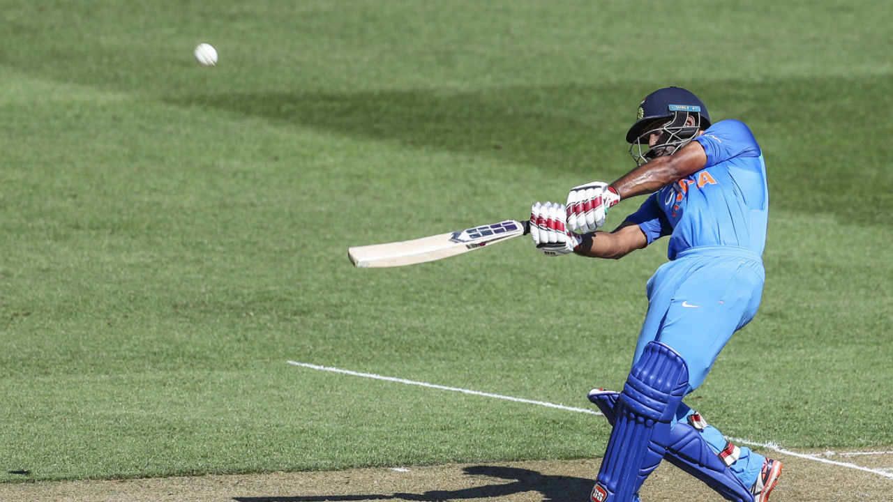 Soon after, Rayudu completed his half-century and controlled the Indian innings. The middle-order batsman finally got out when tried to lift a delivery from Matt Henry over extra cover but holed a catch straight to Munro. Rayudu made a patient 90 off 112 balls. India were 190/6 as Rayudu walked back to the pavilion. (Image: AP)