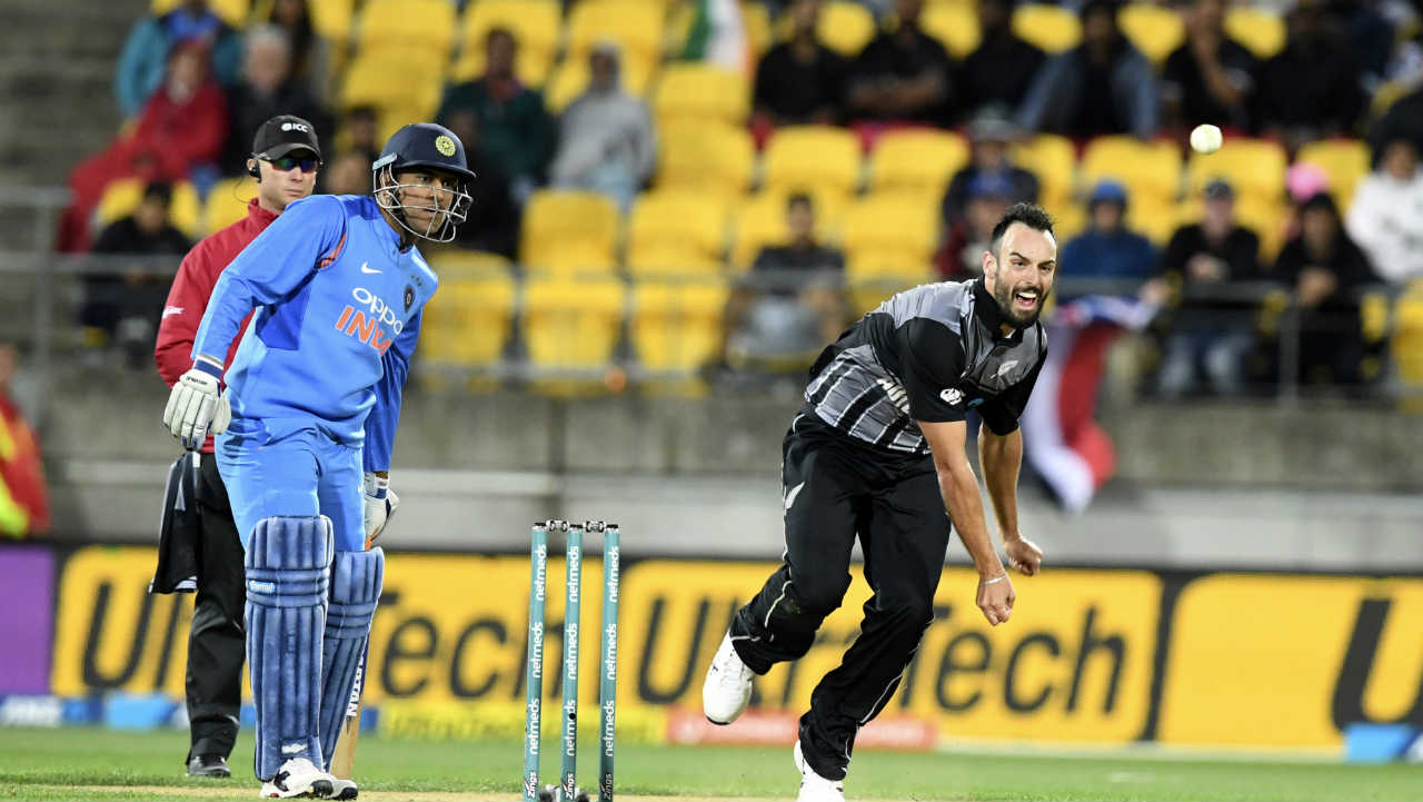 MS Dhoni and Krunal Pandya somehow managed to stitch together a 52-run stand during the middle overs. Tim Southee broke the partnership when he got Pandya caught by Seifert at deep extra cover in the 17th over. Dhoni got out in the 19th over playing a big shot against Southee. India got all-out on 139 when Daryl Mitchell clean bowled Yuzvendra Chahal. New Zealand won the match by 80 runs. (Image: AP)