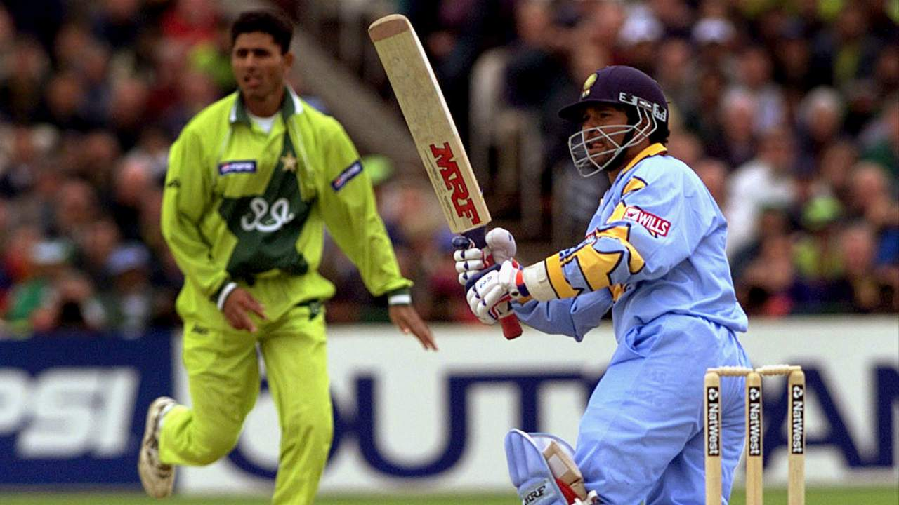 1999, Super Sixes, England | Played in the backdrop of the Kargil war, this Super Six encounter was a highly anxious affair. Batting first, India posted a moderate total of 227/6 with Rahul Dravid top-scoring with 61 off 89 balls. Venkatesh Prasad then produced one of his finest displays in a Man of the Match performance as he claimed 5/27 from 9.3 overs to bowl out the Pakistanis for just 180 runs. India won the tie with a 47-run margin. (Image: Reuters)