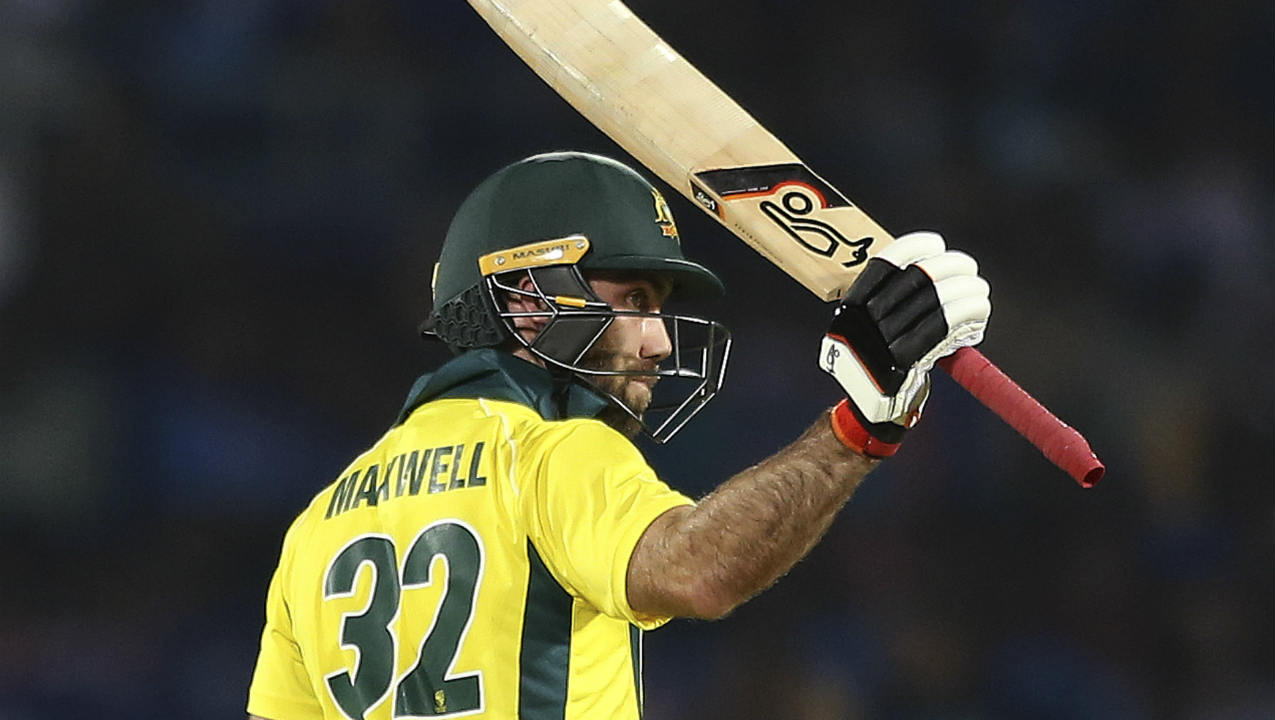 Glenn Maxwell and D'Arcy Short then stitched together an 84-run partnership to steady the Aussie innings. Australia were cruising towards victory as Maxwell and Short picked up runs with ease. Maxwell brought up his fifty in the 13th over off 40 deliveries. (Image: AP)