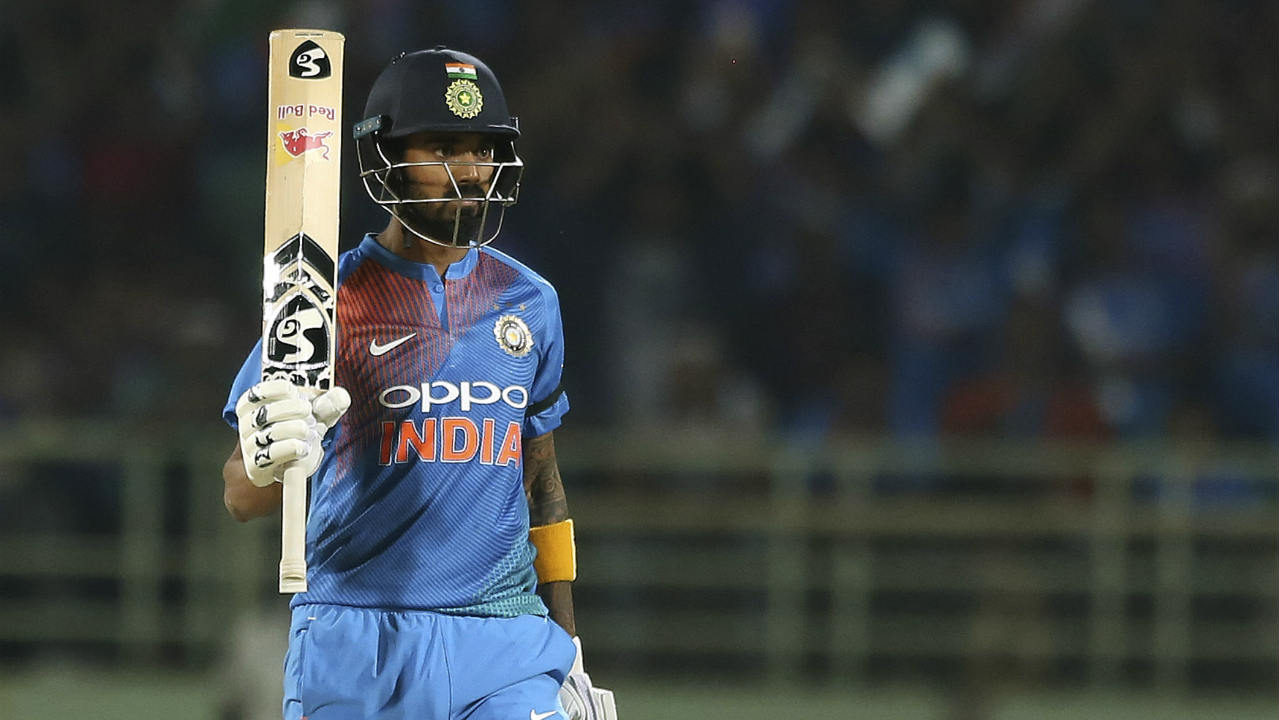KL Rahul who was making his return to the side following the 'Koffee with Karan' controversy looked in great form as he anchored the Indian innings. He brought up his fifty off just 35 balls in the 12th over. (Image: AP)
