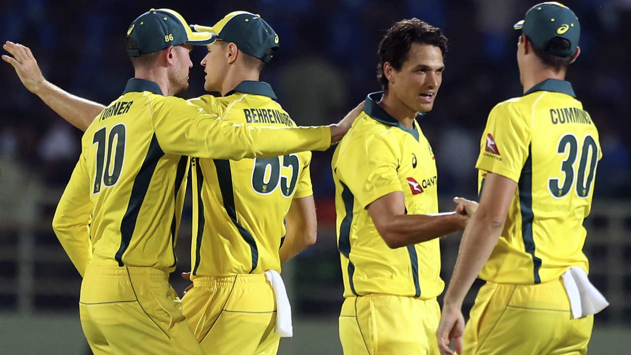 Nathan Coulter-Nile then took charge of proceedings as he dismissed KL Rahul and Dinesh Karthik in the 13th over. Rahul got caught at mid-off while Karthik was bowled right through the gap between bat and pad. Coulter-Nile returned to dismiss Pandya in his very next over. India struggled to add runs after losing Rahul and added just 26 off the last 5 overs to finish with a below par total of 126/7. (Image: AP)