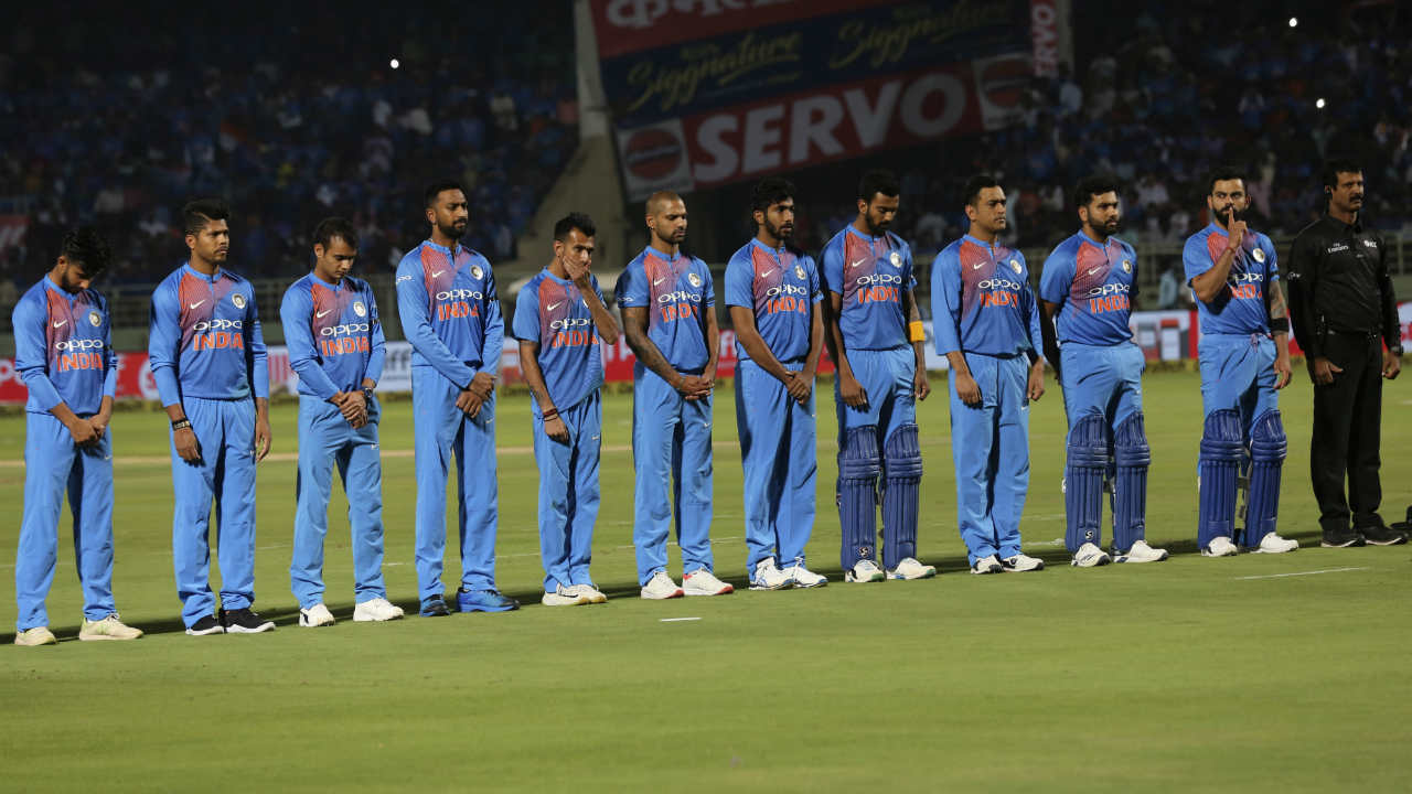 India and Australia locked horns for the 1st T20I of their two-match series on February 24. There were two debutants in the line-ups in the form of Mayank Markande for India and Peter Handscomb for Australia. Aaron Finch won the toss and opted to bowl. There was a moment of silence before the start to pay tribute to the Indian soldiers who lost their lives in the Pulwama terror attack. (Image: AP)