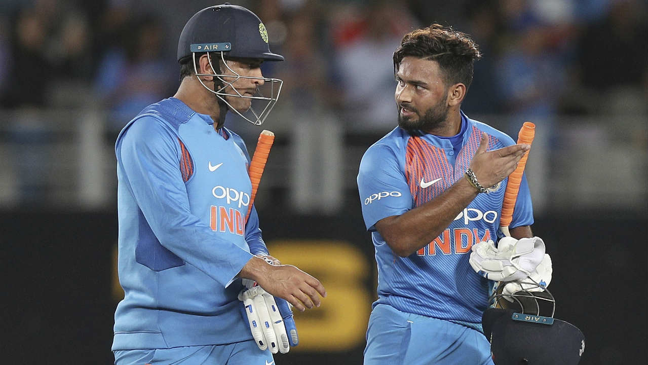 Pant and Dhoni then stitched together an unbroken 44-run partnership to take India to victory with 7 wickets remaining. Pant who came in to bat at no. 3 finished with 40 runs off 28 balls. The win helped India level the series 1-1 and set up a decider tie at Seddon Park, Hamilton on February 10. (Image: AP)