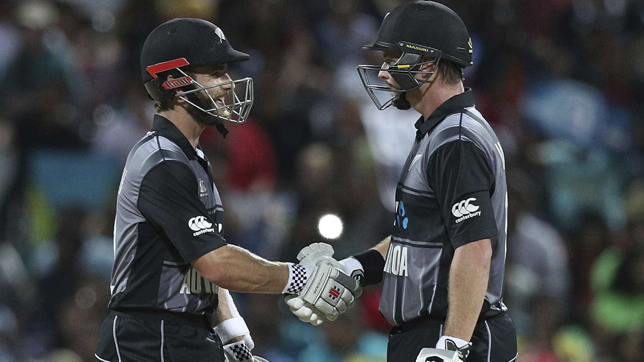 Munro continued his blistering form at the crease and even brought up his fifty with a six off just 28 balls. He shared a 55-run stand with captain Kane Williamson for the second wicket before departing in the 14th over. He scored 72 off 40 balls and was dismissed looking for a maximum off Kuldeep with Hardik Pandya taking the catch at long-on. New Zealand were 135/2 at the fall of Munro's wicket. (Image: AP)