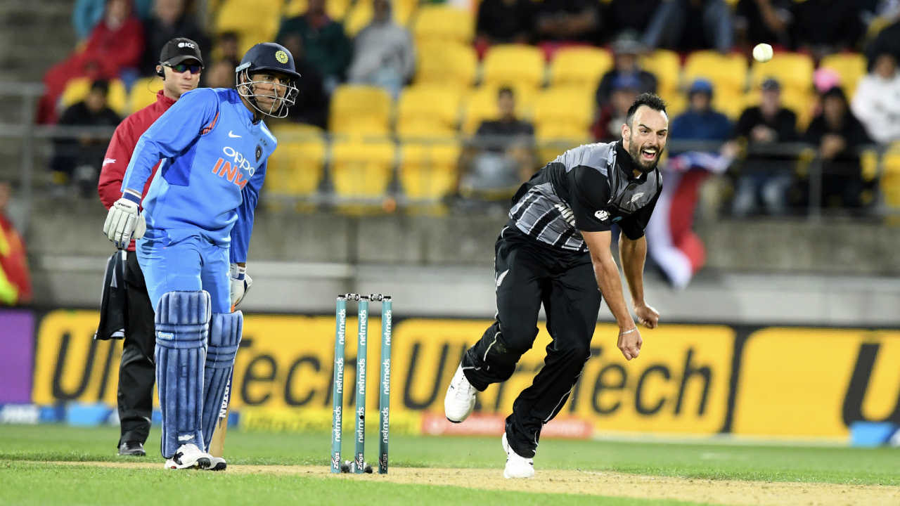 Daryl Mitchell (New Zealand) | The 27-year-old all-rounder made his T20I debut in the first match and would go on to finish as the best bowler in the series with 4 scalps. While three other bowlers also picked up 4 wickets, Mitchell was the most economical giving away just 55 runs at an average of 13.75.  Stats | Matches: 3 | Overs: 6.2 | Wickets: 4 | Best Bowling: 2/27 | Average: 13.75 | Economy rate: 8.68 (Image: AP)
