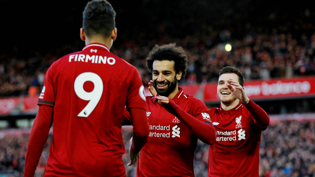 Liverpool 3 – 0 Bournemouth | The Reds brushed away rumours that they might be feeling the nerves of a title challenge as they cruised to a comfortable win over the Cherries to reclaim top spot. Sadio Mane, Georginio Wijnaldum and Mohamed Salah were on target for Jurgen Klopp's side. Salah also extended his lead at the top of the goal-scorers chart with his 17 goal of the season. (Image: Reuters)