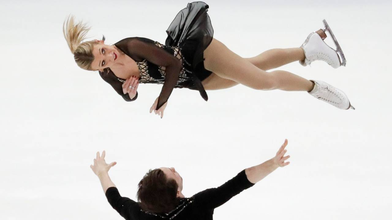 Kirsten Moore-Towers and Michael Marinara, of Canada, perform during the pairs free skate competition at the Four Continents Figure Skating Championships in Anaheim, California, US. (Image: AP)