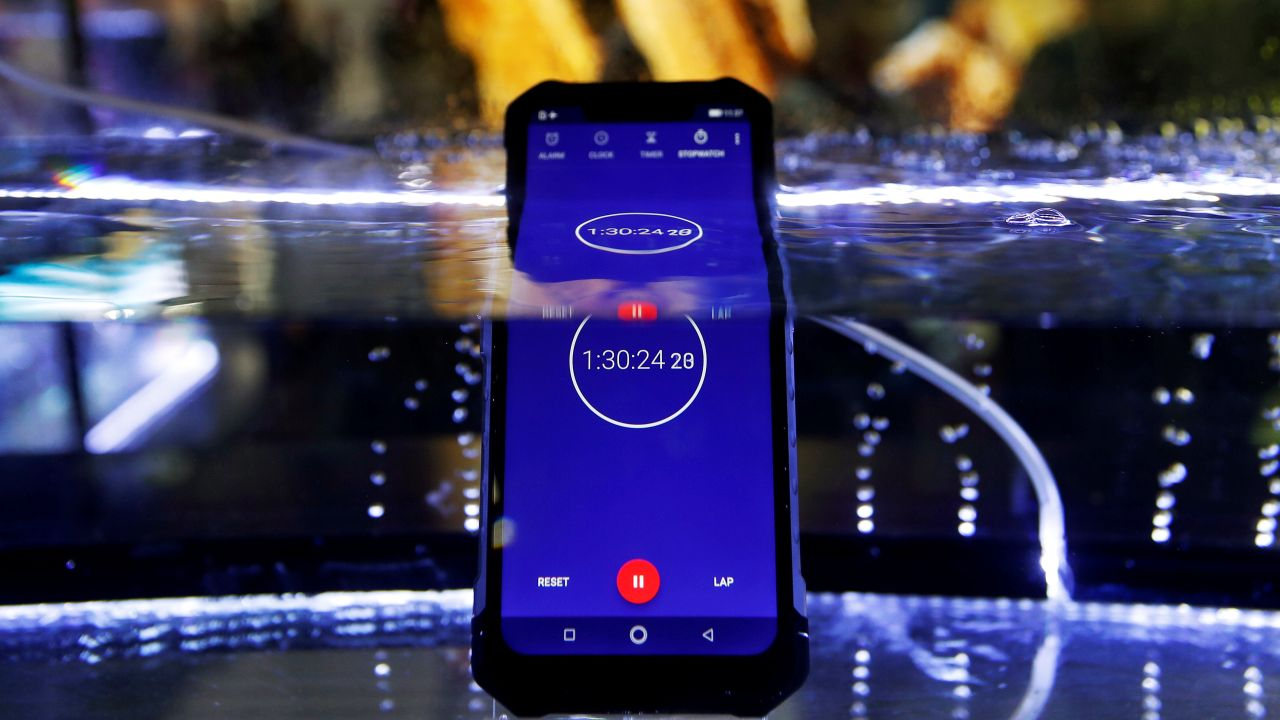 The Ulefone Armor 6 waterproof smartphone is seen on display at the Mobile World Congress in Barcelona, Spain February 25, 2019. REUTERS/Rafael Marchante - RC11A1B8A9C0