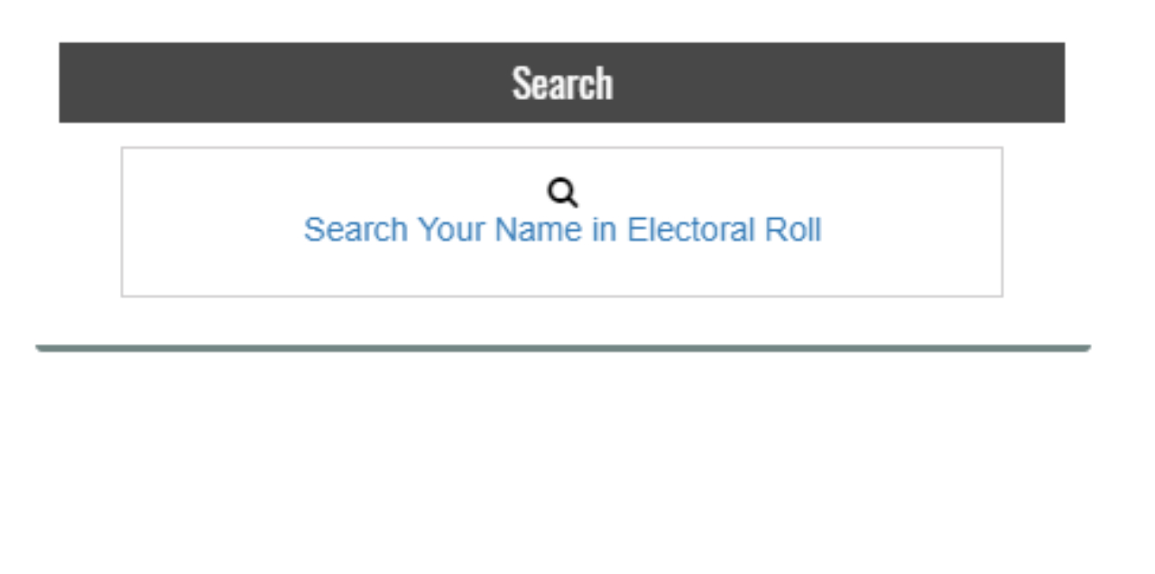 Select the option on the top left that says 'Search Your Name in Electoral Roll' (Image: National Voters' Service portal)