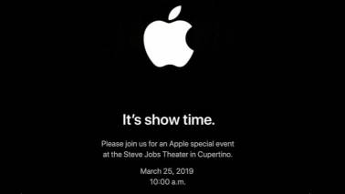 'It's show time': Apple confirms launch event on March 25