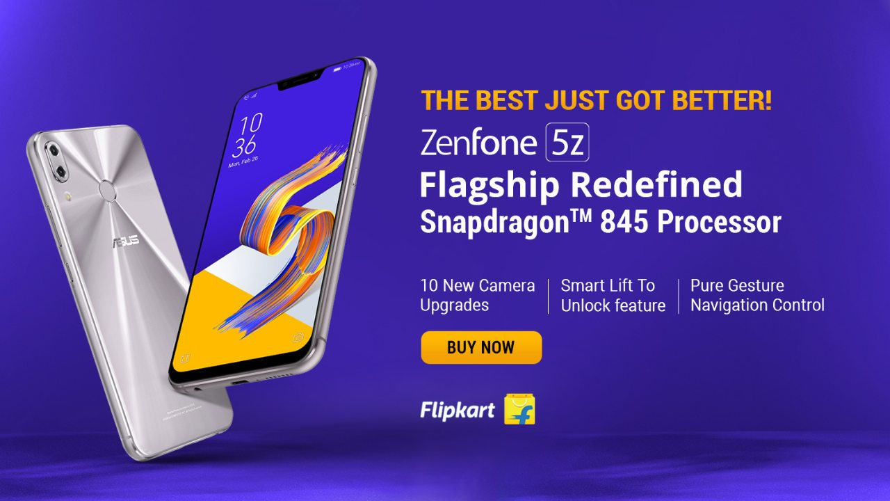 Asus ZenFone 5Z | Flipkart | Rs 24,999 | The Asus ZenFone 5Z offers high-end flagship hardware at a mid-range price, not high-end mid-range, just mid-range. The ZenFone features a Snapdragon 845 SoC and 6GB of RAM to run everything from demanding applications to games with ease. The ZenFone 5Z also has a more than decent 90 DxOMark score with its flagship Sony IMX363 sensor with Optical Image Stabilisation, Night HDR mode and image capture up to 48-megapixels.