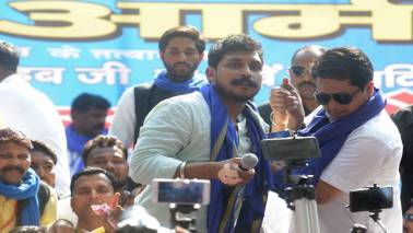 At rally attended by Kanshi Ram's sister, Bhim Army chief says will fight against PM Modi in Varanasi