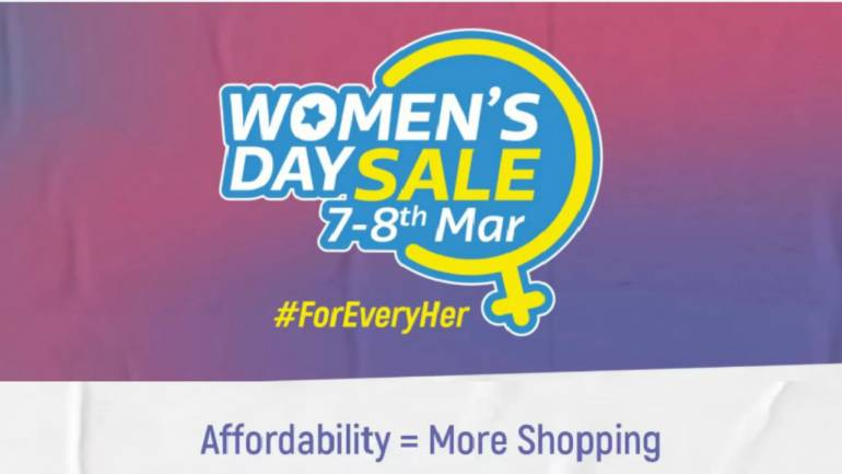 The Flipkart's Women's Day Sale will commence on the 7th of March and end on the 8th March 2019.