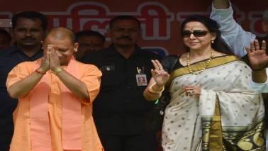 Hema Malini and RLD candidate file nominations for Mathura