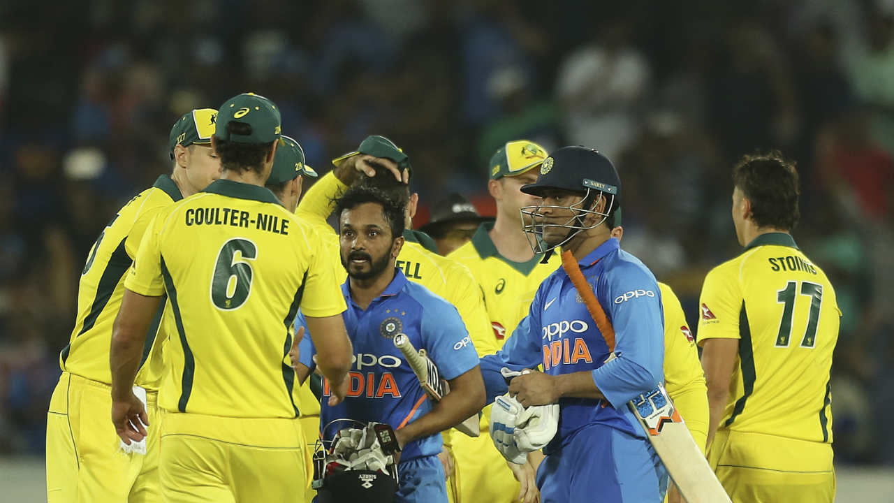 Dhoni hit two boundaries off the first two balls of the penultimate over to help India win. Dhoni remained unbeaten on 59 while Rayudu-who was later adjudged Player of the match-was not on 81. (Image: AP)