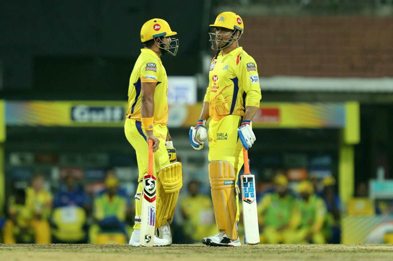 With openers dismissed early, MS Dhoni and Suresh Raina were pressed into action early. The two put a 61-run stand as CSK recovered from an early slump.