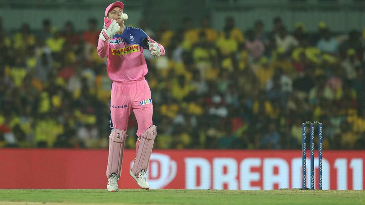 On a slow track RR drew the first blood as they dismissed CSK openers Ambati Rayudu and Shane Watson inside first four overs. Rayudu made 1 while Watson scored 13. CSK's score read 14/2 when Watson made his way back to the dugout.