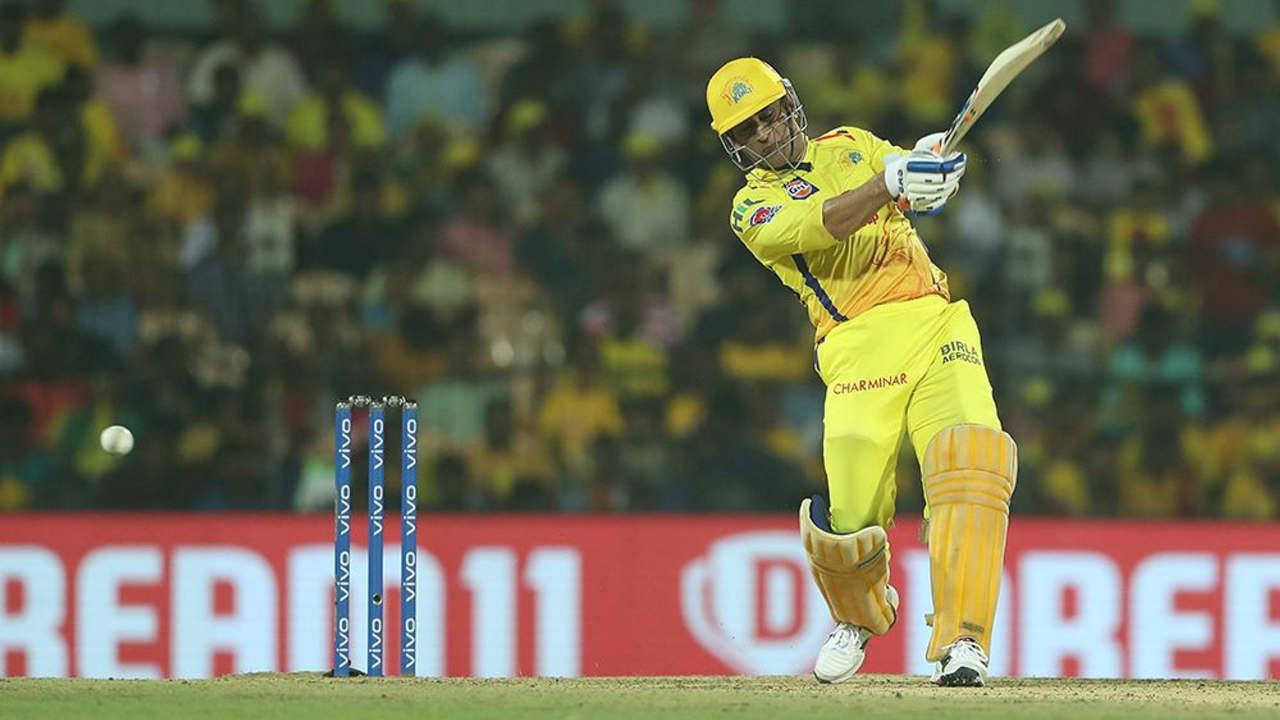 Dhoni fought hard from the other end and completed his 21st IPL fifty in the 19th over.