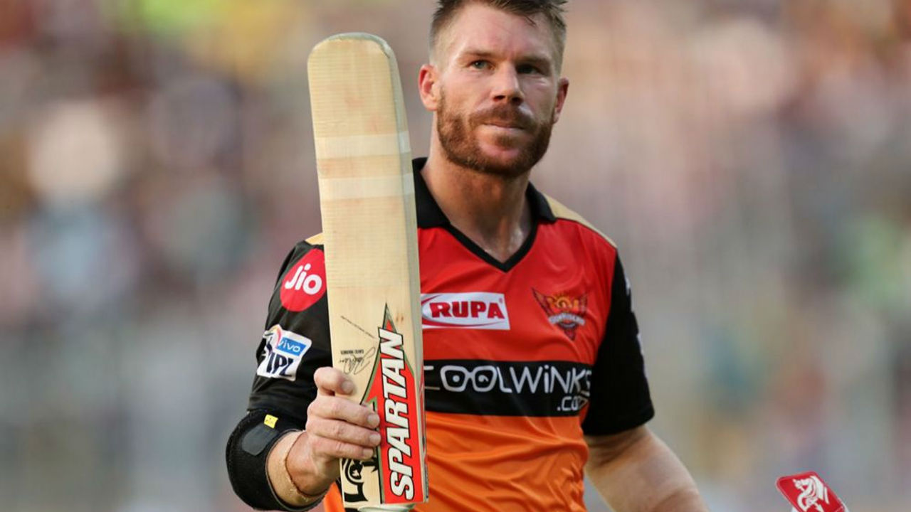 Warner looked in great nick but his innings came to an abrupt end when he played the last ball of the 16th over to cover but Robit Uthappa took a splendid low diving catch almost inches off the ground. Warner walked back after making a superb 85 off 53 balls with SRH at 144/2. (Image: BCCI, iplt20.com