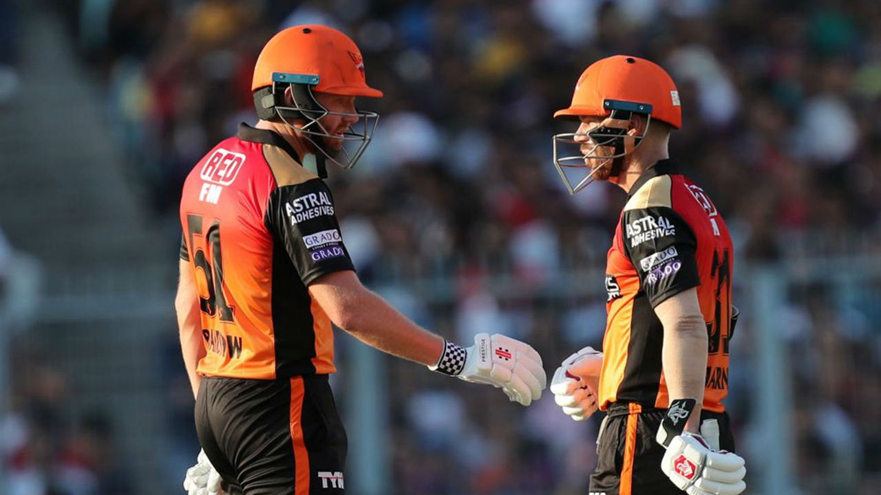 Warner and Bairstow got the Orange Army off to a flying start with the two adding 100 runs to the opening stand. Warner announced his return in grand style as he notched a fifty during the course of the partnership.
