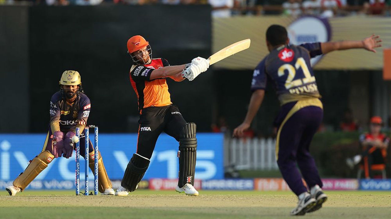 Piyush Chawla got the first breakthrough for KKR as he castled Bairstow on the fifth delivery of the 13th over. Bairstow walked back after making a steady 39 off 35 balls. SRH were 118/1 when Bairstow walked back to the pavilion.
