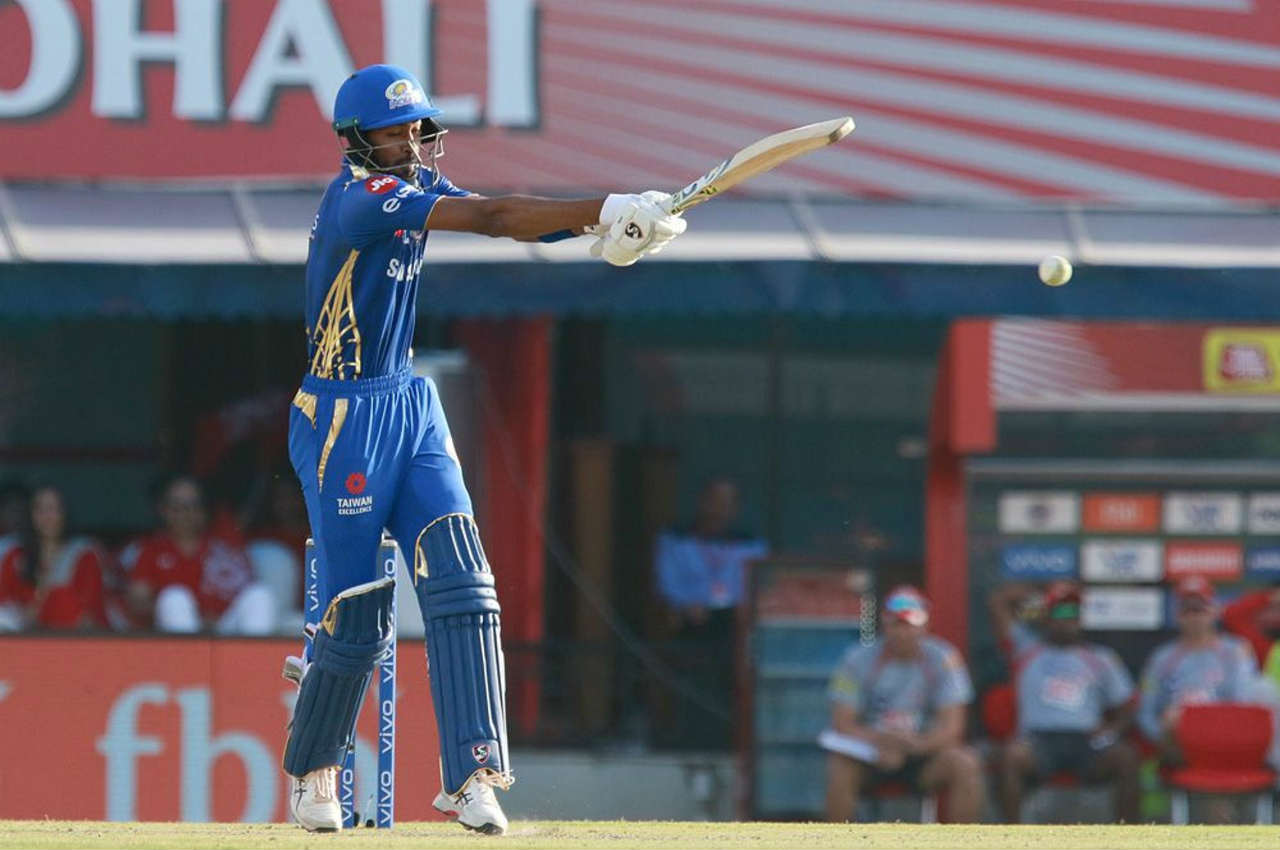 However, all-rounder Hardik Pandya again played a great cameo as he slammed 31 off 19 balls as MI finished on 176/7 in 20 overs.