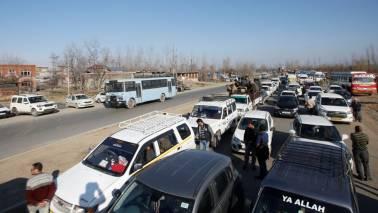 School buses, patients held up by military roadblocks on main Kashmir highway