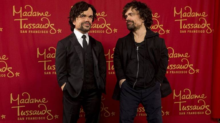 GoT actor Peter Dinklage with his wax statue (Image: IMDB)