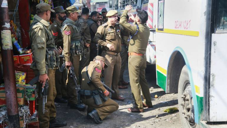 Image result for 18 injured in grenade attack on bus