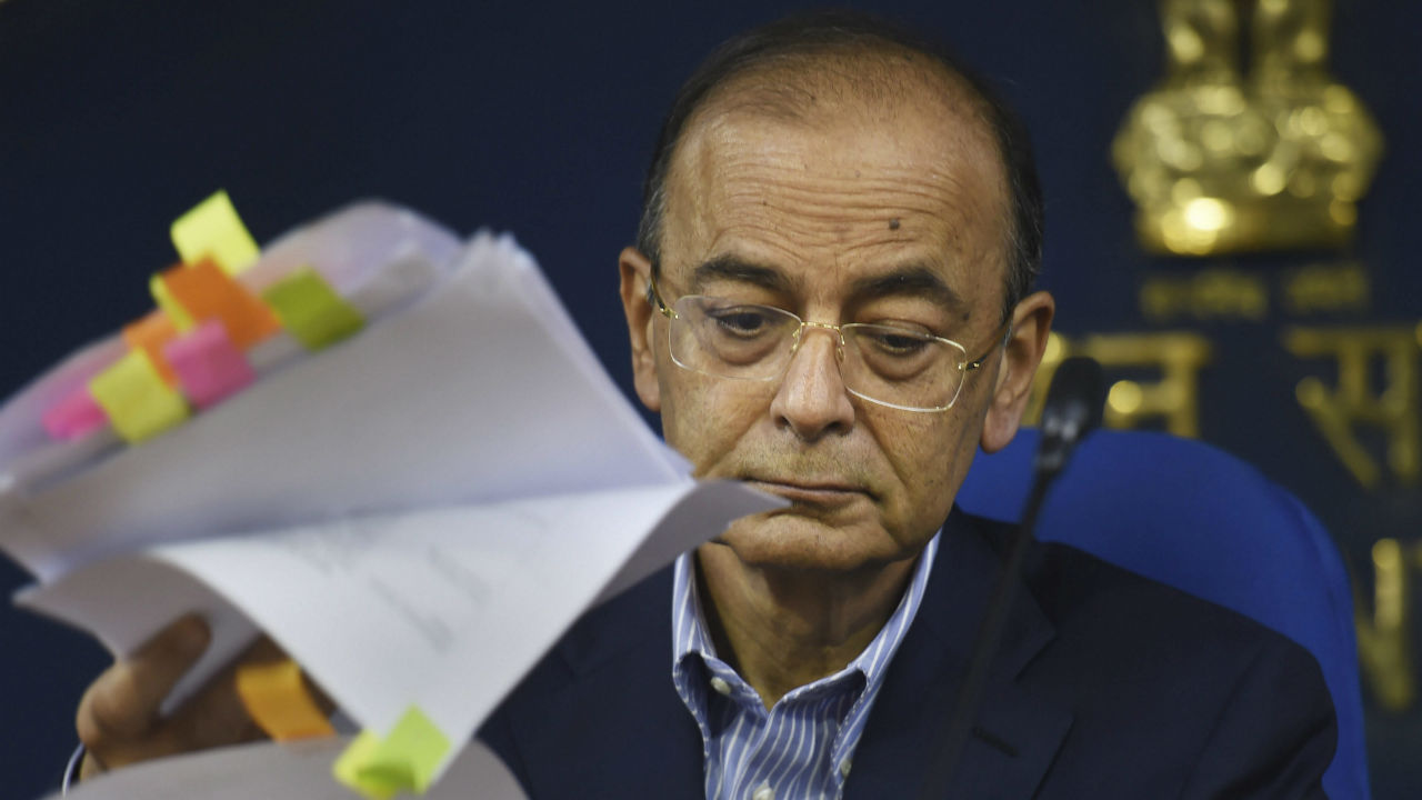 Union Finance Minister Arun Jaitley during a press conference after a cabinet meeting, in New Delhi. (Image: PTI)