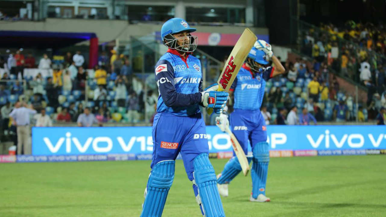 Image result for prithvi shaw with dhawan ipl 2019