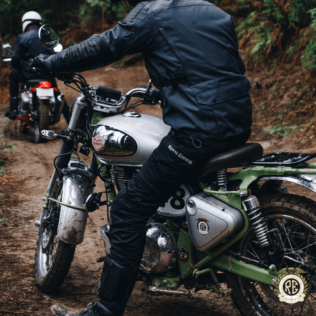 There will also be a set of five specific motorcycle accessories available, that have been designed for the Bullet Trials, including a sump guard for added engine protection (Image: Royal Enfield)