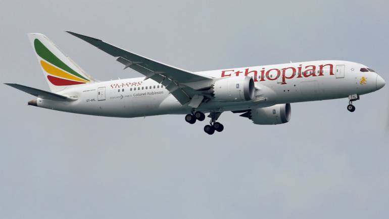 Representative image of an Ethiopian Airlines aircraft