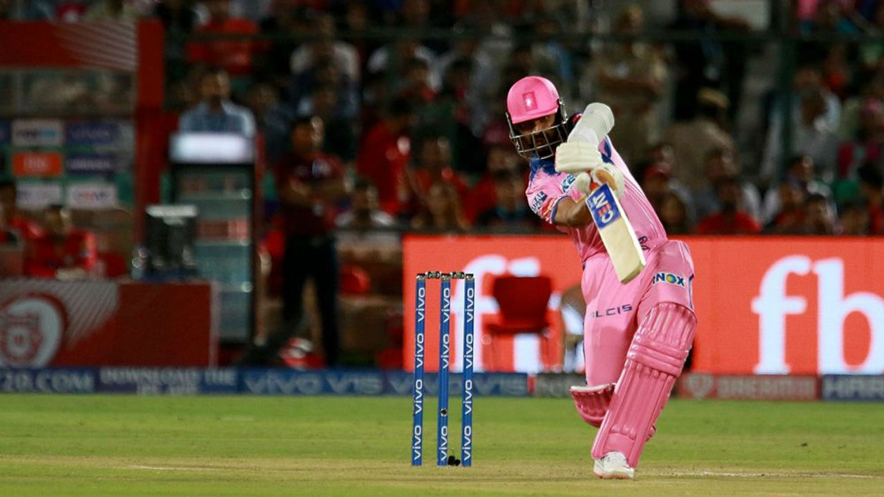 Chasing 185 to win RR were off to a flying start with openers Rahane and Jos Buttler stitching a 78-run opening stand. (Image: BCCI, iplt20.com)