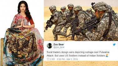 Surat traders print image of US Army personnel on sarees, get trolled on Twitter