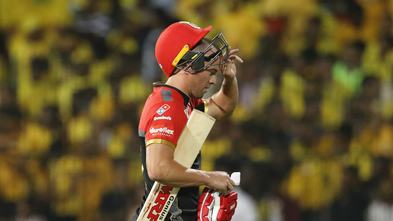 Things got worse as AB Devilliers got out to in the eight over trying to play a big shot to Harbhajan. The Indian off-spinner was later awarder Man of the Match award for his spell of 3/20. (Image: AP)