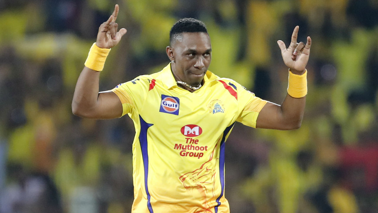 CSK all-rounder Dwayne Bravo only came to bowl in the 18th over and picked the wicket of his very first delivery as Patel played the ball straight to Jadeja standing at backward square leg. RCB were thus all-out on just 70 runs with Patel scoring 26 runs being the innings' top scorer. (Image: AP)