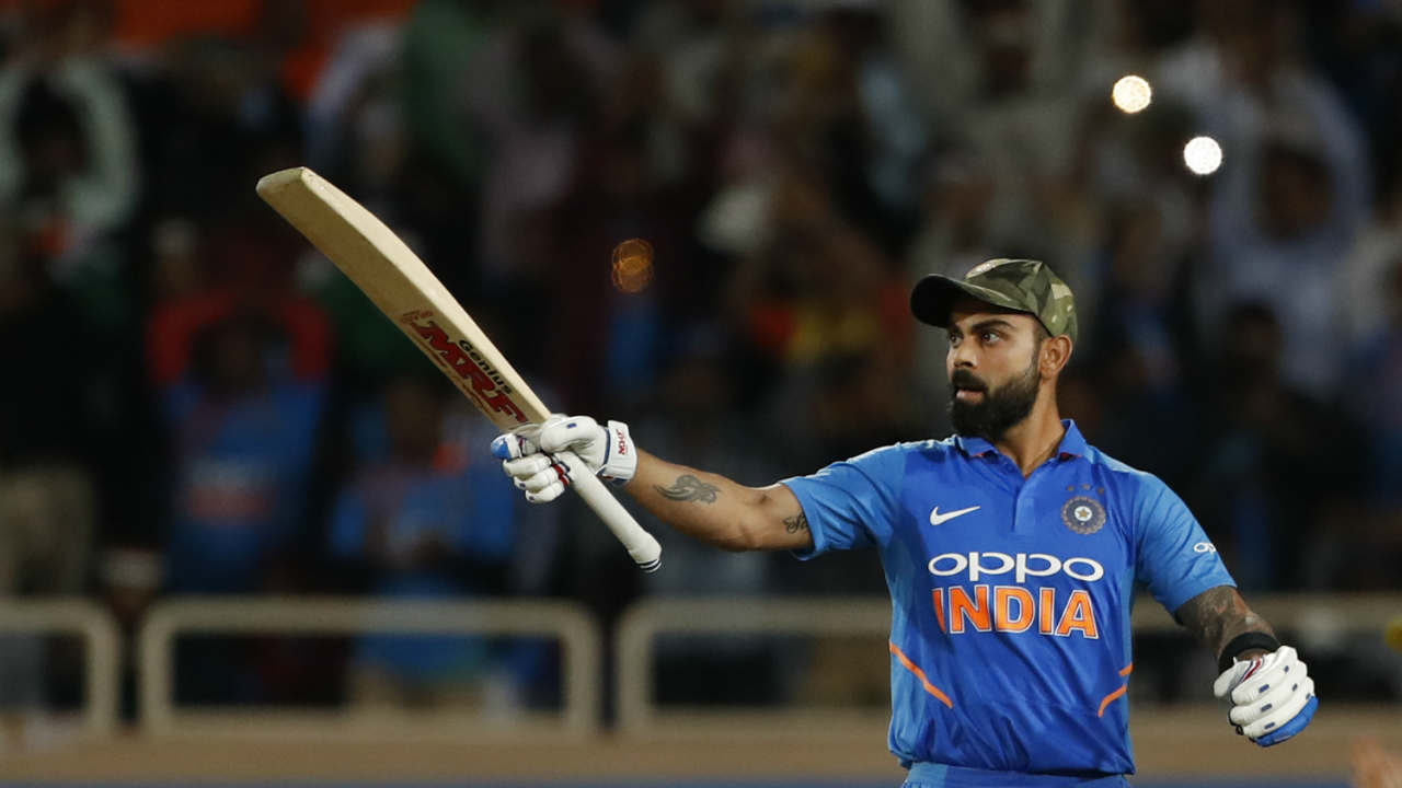Fall of wickets at other end did not affect Kohli as he went about his usual business of knocking runs and in the process completed his 41st ODI hundred. (Image: AP)