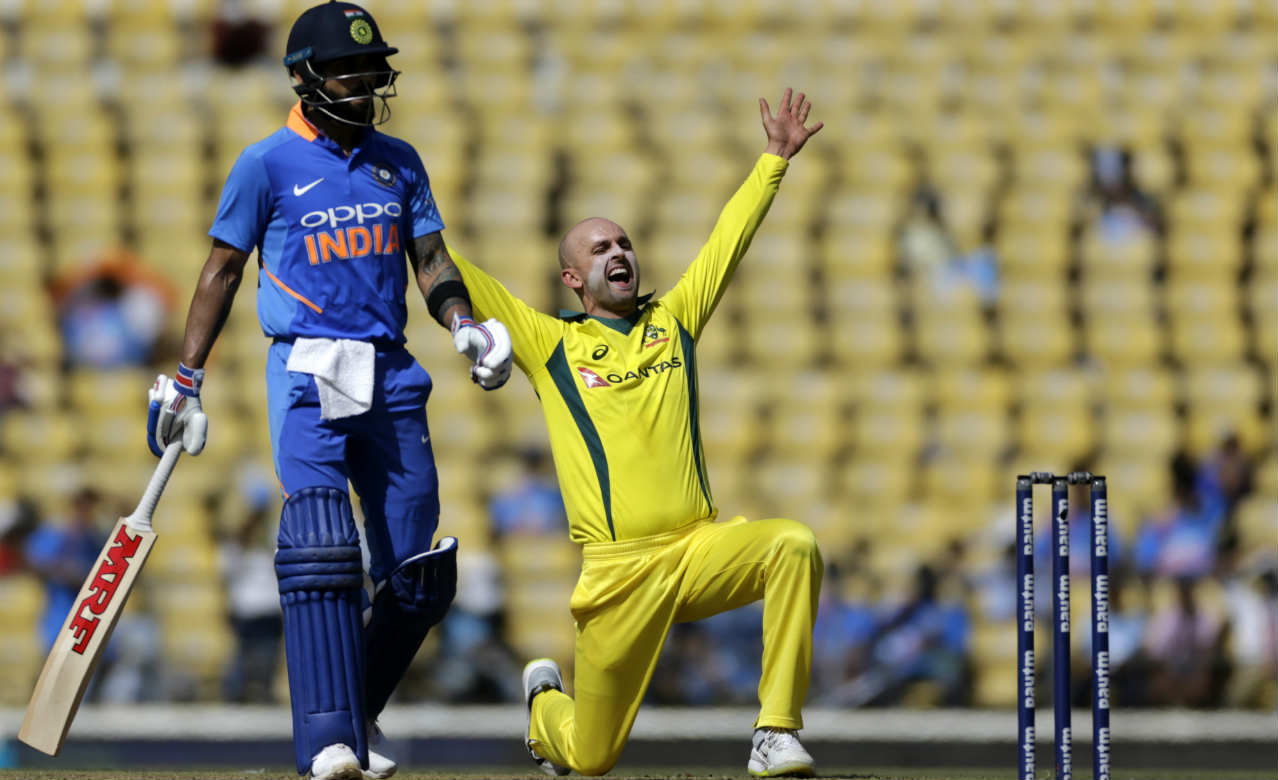 Ambati Rayudu looked shaky during his 32-ball stay and could manage only 18 runs before being trapped LBW by Nathan Lyon in the Australian's first over of the game. Rayudu opted for the review but there wasn't anything there to save him. Vijay Shankar was the next batsman to emerge as he was promoted higher up the order. (Image: AP)