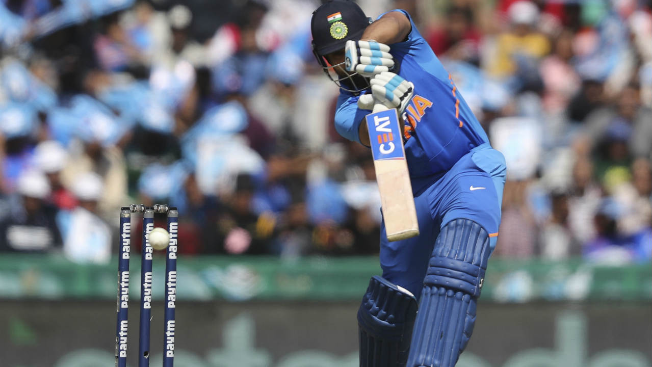 With the series precariously poised at 2-1 in India's favour, both teams squared off for the 4th ODI at Mohali. India made four changes to their playing XI with KL Rahul, Rishabh Pant, Yuzvendra Chahal and Bhuvneshwar Kumar coming in to replace Ambati Rayudu, MS Dhoni, Ravindra Jadeja and Mohammed Shami respectively. Australia made two changes with Jason Behrendorff and Aston Turner replacing Nathan Lyon and Marcus Stoinis. (Image: AP)