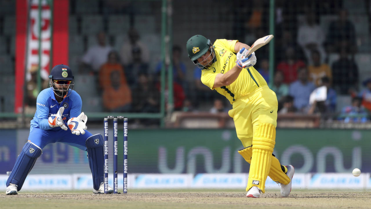 The Aussie openers got their team to a good start with a 76-run partnership off 87 balls. Usman Khawaja did the bulk of the scoring in the partnership while Finch played second fiddle. (Image: AP)
